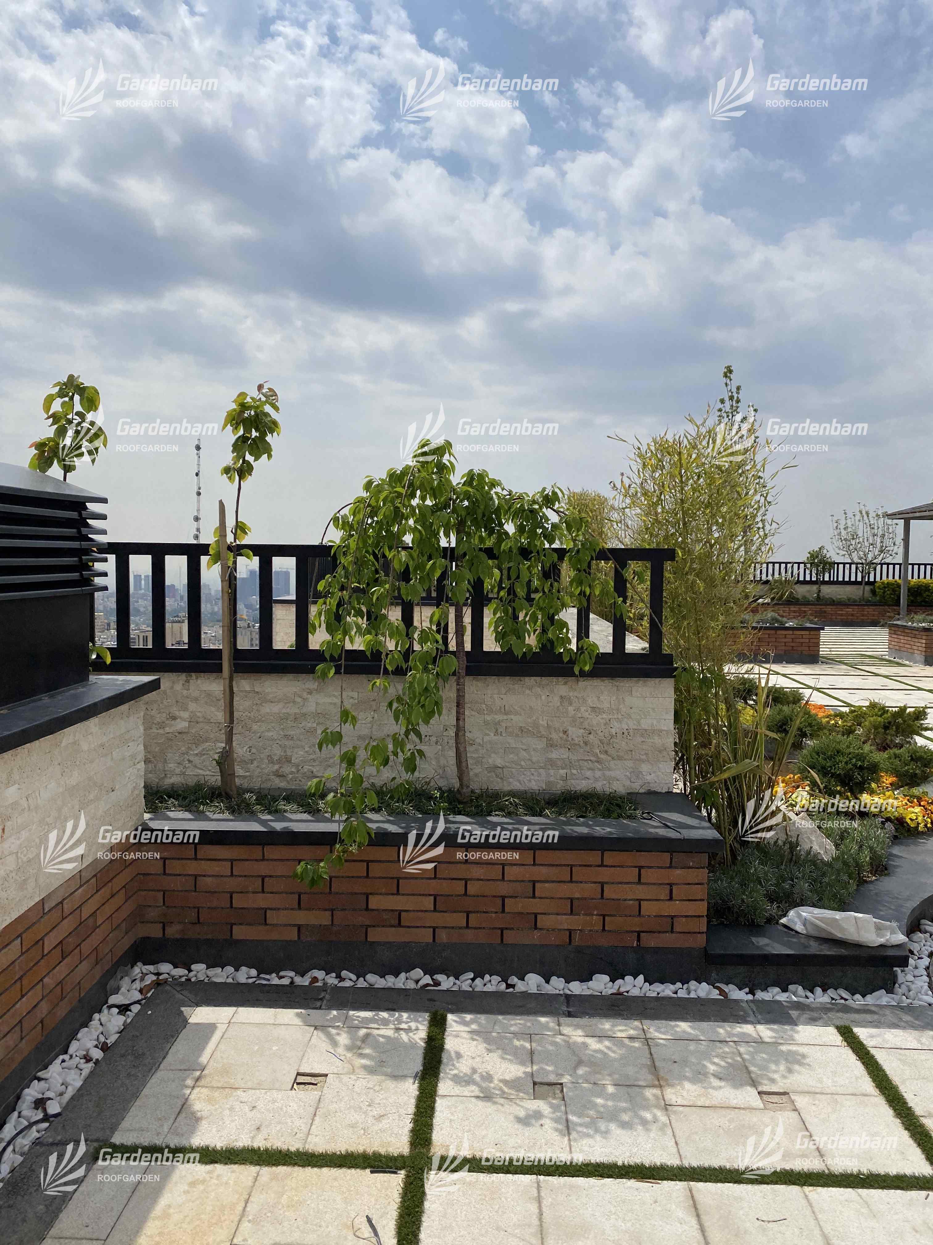 باغ بام | روف گاردن | پروژه بام سبز شرکت گاردن بام-سعادت اباد