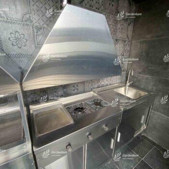آشپزخانه صنعتی روف گاردن | تجهیزات آشپزخانه صنعتی بام سبز | گاردن بام | روف گاردن