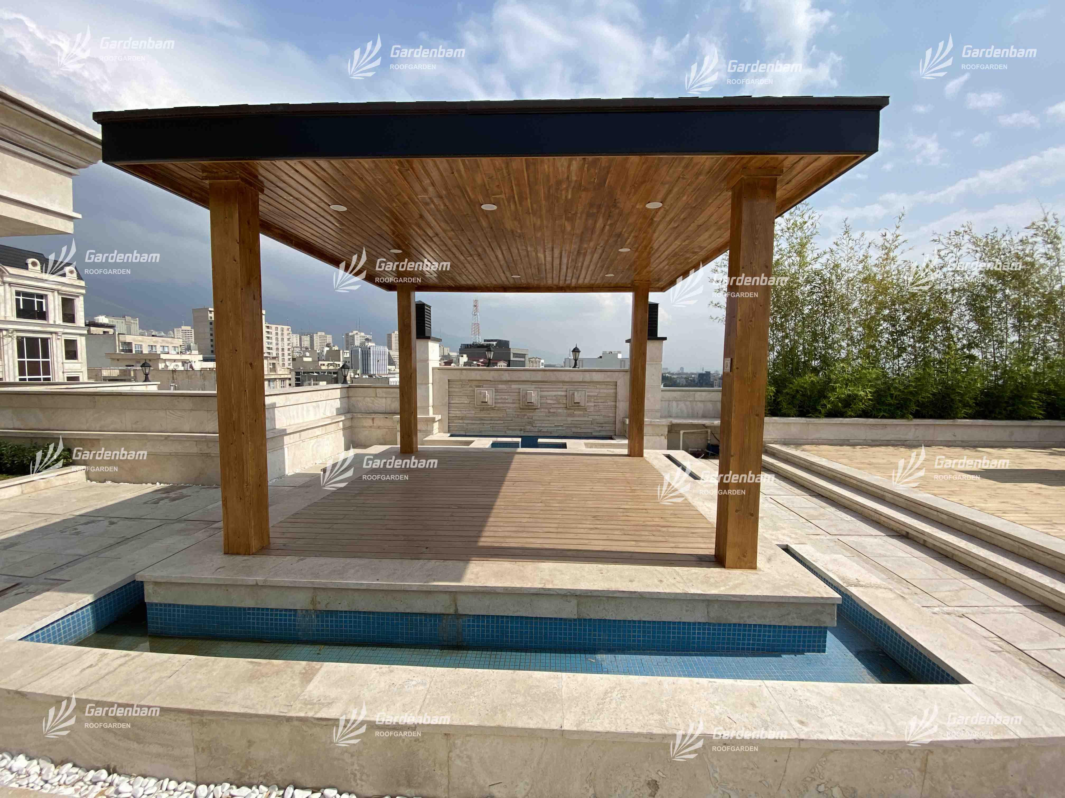 روف گاردن | روفگاردن | بام سبز | طراحی و اجرای روف گاردن| بام سبز شرکت گاردن بام- پروژه سعادت آباد
