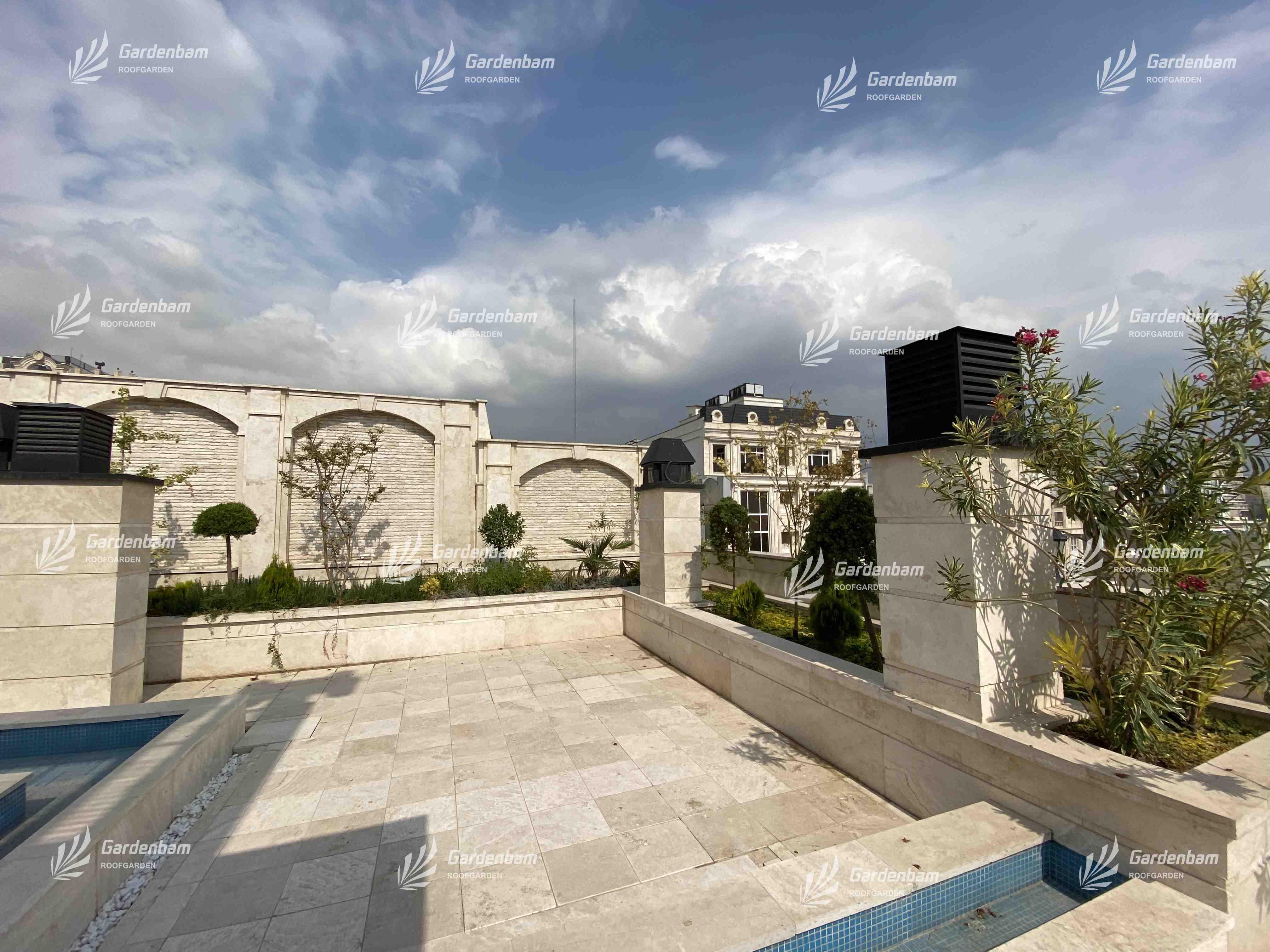 طراحی و اجرای روف گاردن| بام سبز شرکت گاردن بام- پروژه سعادت آباد