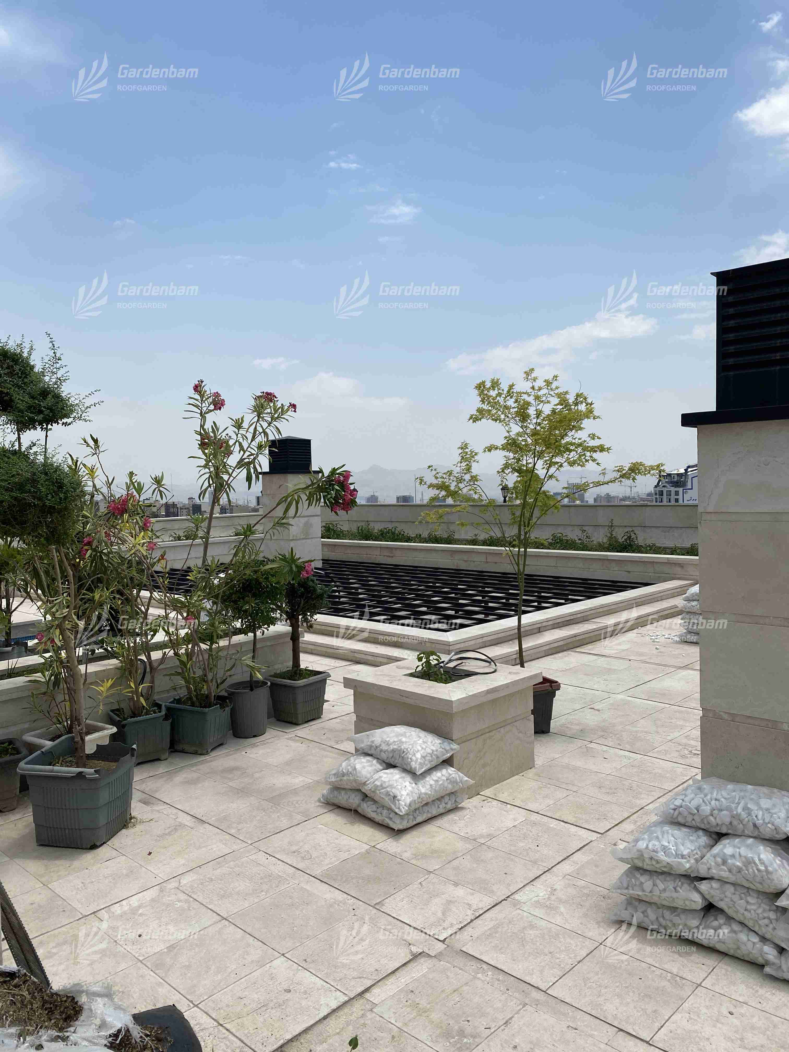 طراحی و اجرای روف گاردن شرکت گاردن بام-سعادت آباد