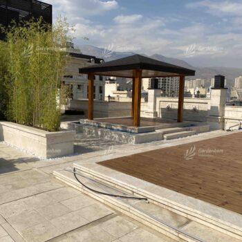 طراحی و اجرای روف گاردن- آلاچیق شرکت گاردن بام-سعادت آباد