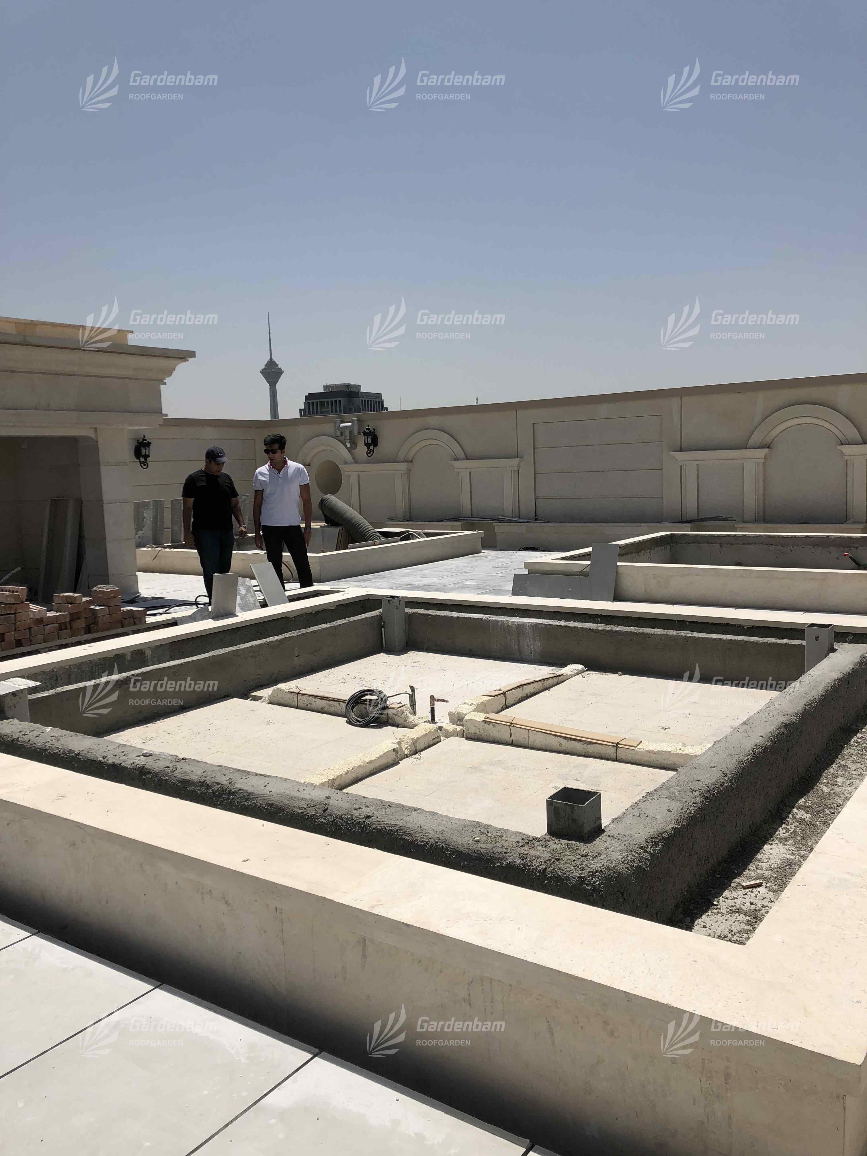 مشاوره روف گاردن و فضای سبز در تهران | مهندس پیمان جمشیدی | طراحی و اجرای روف گاردن سعادت آباد(ذرافشان)