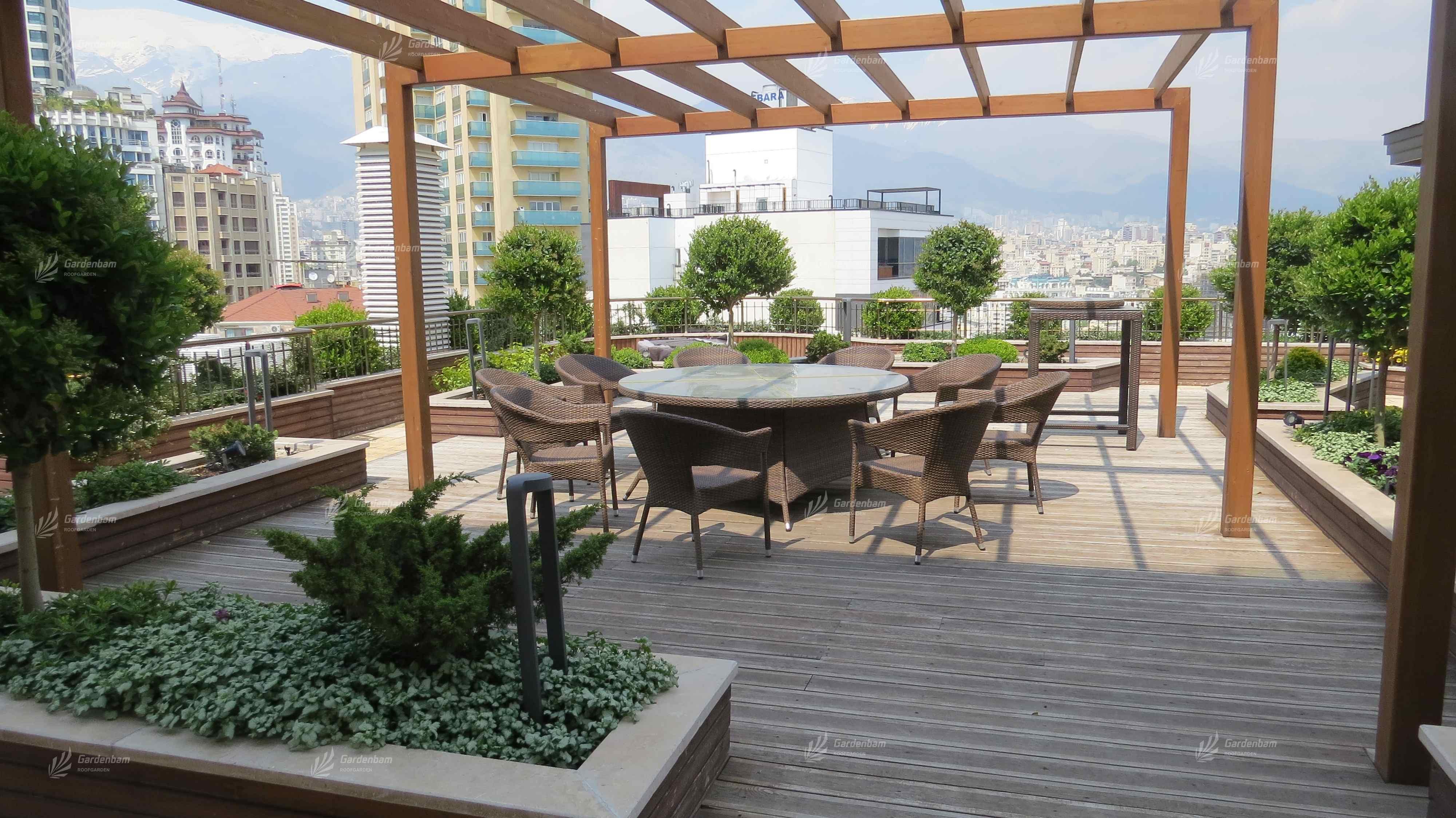 هزینه روف گاردن | قیمت روف گاردن | لایه های روف گاردن | اجزای بام سبز | روفگاردن | روف گاردن | بام سبز | Roofgarden | green roof | gardenbam