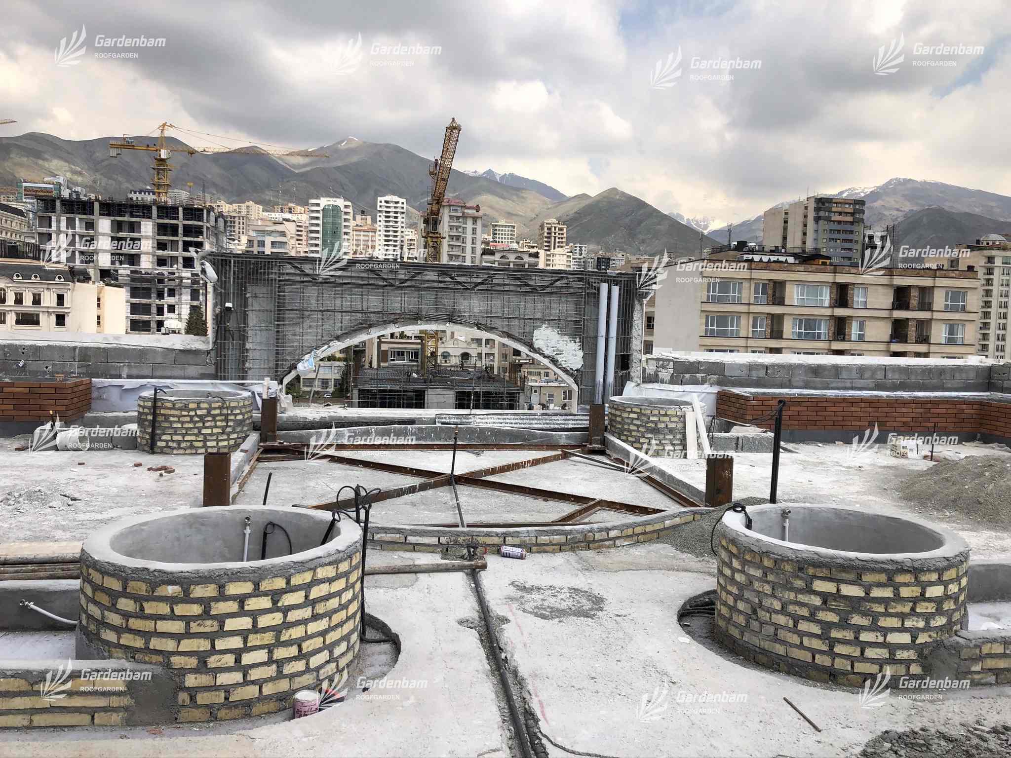 روف گاردن شرکت گاردن بام | بام سبز | پروژه | روفگاردن | آشپزخانه صنعتی | طراحی و اجرای روف گاردن