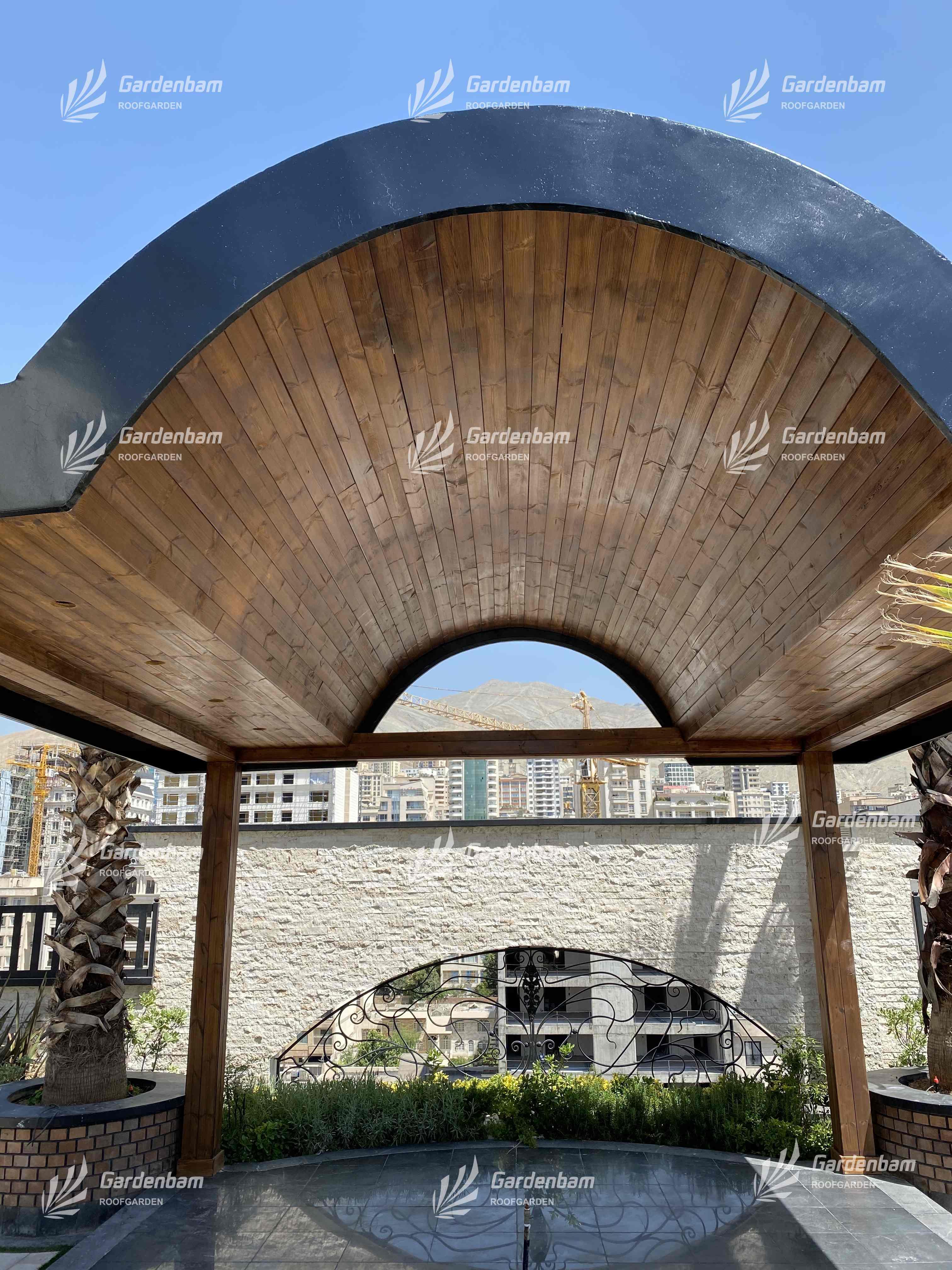 روف گاردن | شرکت گاردن بام | بام سبز | پروژه | روفگاردن | آشپزخانه صنعتی | طراحی و اجرای روف گاردن