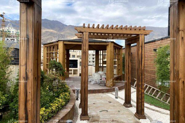 پروژه روف گاردن | روف گاردن | اجرای روف گاردن| بام سبز | پروژه | پرگولا | آتشکده | فضای سبز | محوطه سازی | گاردن بام | کاشت گیاه | آلاچیق