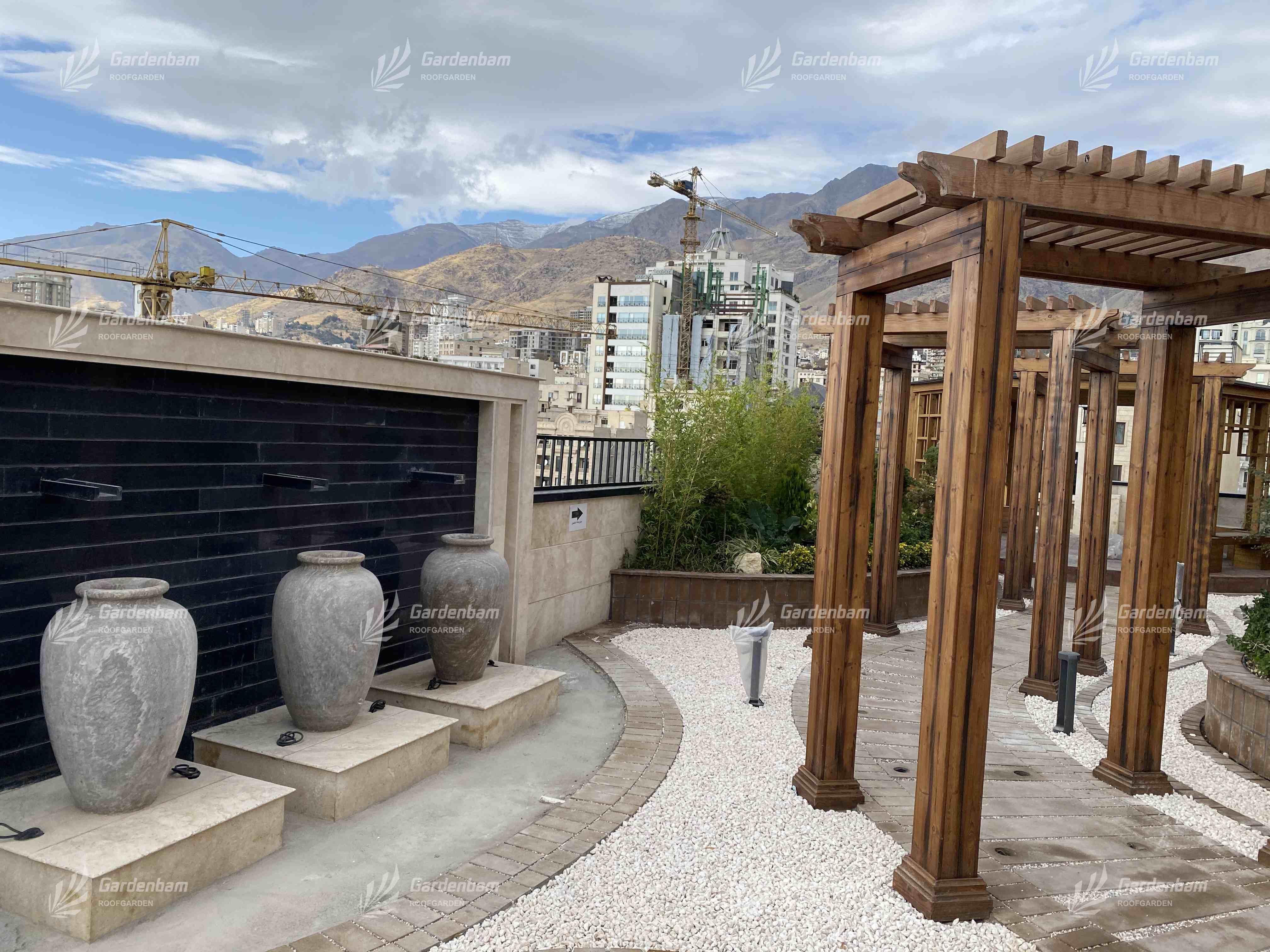 روف گاردن | پروژه روف گاردن | اجرای روف گاردن| بام سبز | پروژه | پرگولا | آتشکده | فضای سبز | محوطه سازی | گاردن بام | کاشت گیاه | آلاچیق