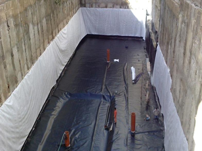 زهکشی و ایزولاسیون گودهای ساختمان  آب بندی و عایق گودهای ساختمان   گود ساختمان  گاردن بام