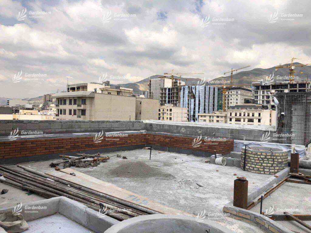 اجرای روف گاردن | روفگاردن| روف گاردن شرکت گاردن بام | بام سبز | پروژه | روفگاردن | آشپزخانه صنعتی | طراحی و اجرای روف گاردن