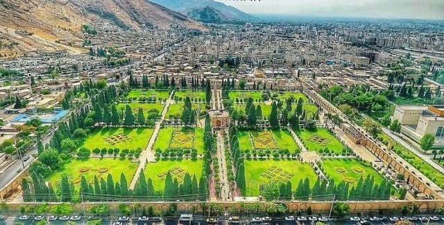 محوطه باغ ایرانی | محوطه سازی | طراحی باغ ایرانی | کوشک | منظره سازی| طراحی فضای سبز ایرانی | گاردن بام | باغ جهان نما شیراز