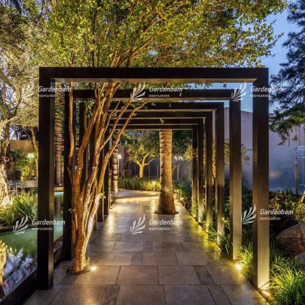 نورپردازی روف گاردن | اجرای نورپردازی در روفگاردن| طراحی و اجرای بام سبز | گاردن بام